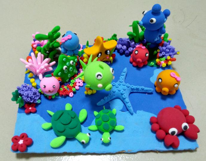 手工黏土--海底世界